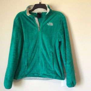 The North Face green Osito fleece jacket size M